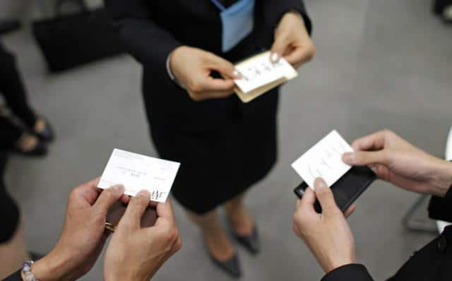 Chinese Business Card Exchange